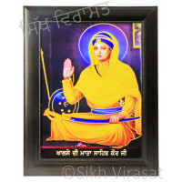 Mata Sahib Kaur Ji Colored Photo Size 12 X 16
