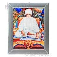 Baba Nand Singh Ji Colored Photo Size 12 X 16