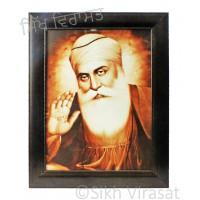 Shri Guru Nanak Dev Ji Brown Photo Size 12 X 16