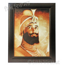 Shri Guru Gobind Singh Ji Brown Photo Size 12 X 16