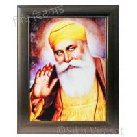 Shri Guru Nanak Dev Ji Colored Photo Size 12 X 16