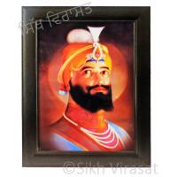 Shri Guru Gobind Singh Ji Colored Photo Size 12 X 16