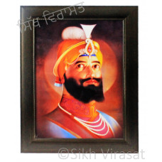 Shri Guru Gobind Singh Ji Colored Photo Size 12 X 16