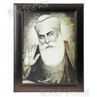 Shri Guru Nanak Dev Ji Black & White Photo Size 12 X 16