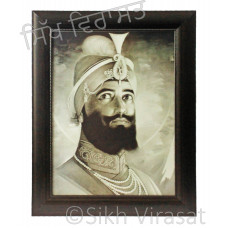 Shri Guru Gobind Singh Ji Black & White Photo Size 12 X 16
