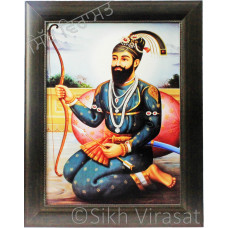 Shri Guru Gobind Singh Ji Hazur Sahib Colored Photo Size 12 X 16