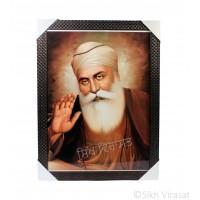 Shri Guru Nanak Dev Ji Sepia Photo, Wooden Frame with attractive pattern, Size – 17x23