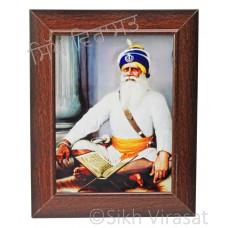 Shaheed Baba Deep Singh Ji Colored Photo Size 6x8