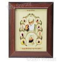 Ten Gurus or Das Guru Sahiban Colored Photo Size 6x8