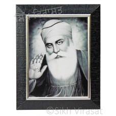 Shri Guru Nanak Dev Ji Black & White Photo Size 6x8