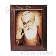 Shri Guru Nanak Dev Ji Brown Photo Size 6x8