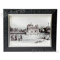 Golden Temple / Harmandir Sahib / Darbar Sahib Amritsar in 1833, Black & White Photo Size 6x8