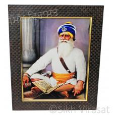 Shaheed Baba Deep Singh Ji Colored Photo Size 9 X 12