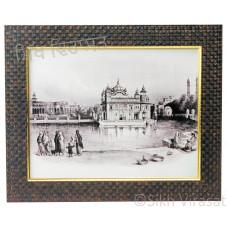 Golden Temple / Harmandir Sahib / Darbar Sahib Amritsar in 1833, Black & White Photo Size 9x12