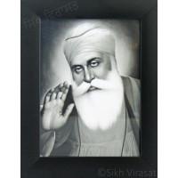 Shri Guru Nanak Dev Ji Black & White Photo Size – 6x8