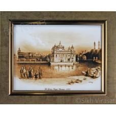 1833 Golden Temple or Darbar Sahib or Harmandir Sahib in Colored Photo Size – 6X8