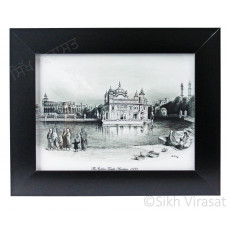 1833 Golden Temple or Darbar Sahib or Harmandir Sahib in Black & White Photo Size – 6X8