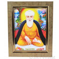 Shri Guru Nanak Dev Ji Nanaksar Colored Photo Frame Copper Size – 6x8