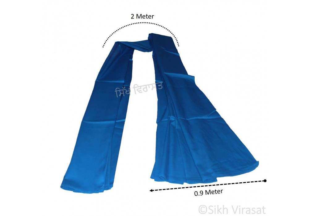 Hajooria Sikh Or Hazooria Color Royal Blue Size 2 Meter