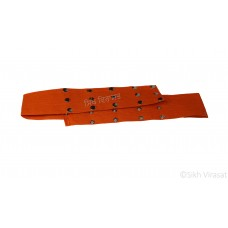 Kamarkasa Belt or Belt Tich Button Adjustable Color-Yellow/Kesri/Saffron/White Medium Size 18 to 22 inches