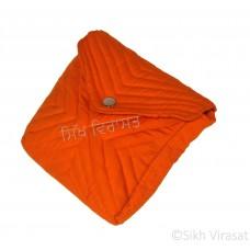 Khajana Khajana Or Gutka Sahib Bag with Adjustable Strap, 1 Tich Button and with separate Gatra Color- Orange