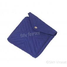 Khajana Or Gutka Sahib Bag with Adjustable Strap and 1 Tich Button1 Color- Royal Blue