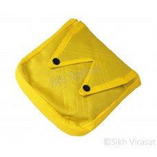 Khajana Or Gutka Sahib Bag with Adjustable Strap and 2 Tich Buttons Color- Light Yellow