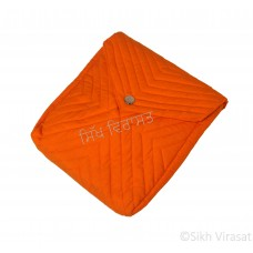 Khajana Or Gutka Sahib Bag with Adjustable Strap, 1 Tich Button and with separate Gatra Color- Orange