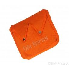 Khajana Or Gutka Sahib Bag with Adjustable Strap and 2 Tich Buttons Color- Orange