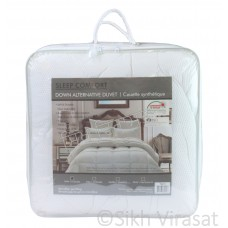 Twin Duvet- Down Alternative Reversible Comforter in White