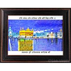 Golden Temple or Darbar Sahib or Harmandir Sahib in Colored Photo  Size – 9x12