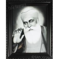 Shri Guru Nanak Dev Ji Black & White Photo Size – 9x12