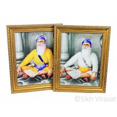 Shaheed Baba Deep Singh Ji Black & White Photo Size – 9x12