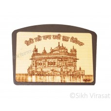 Wooden Sri Darbar Sahib Or Golden Temple Dashboard Home Room Office Car Dashboard Decor Gift Item Dashboard Accessories Color Brown Size Medium 5 Inches