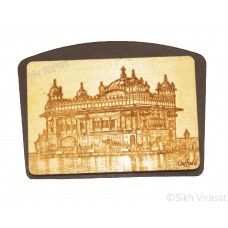 Mini Wooden Sri Darbar Sahib Or Golden Temple Dashboard Home Room Office Car Dashboard Decor Gift Item Dashboard Accessories Color Brown Size Small 3.5 Inches