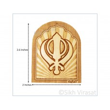 Mini Wooden Khanda Dashboard Home Room Office Car Dashboard Decor Gift Item Dashboard Accessories Size Small 2.6 Inches