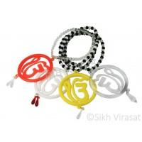 Car Hanging Ik Onkar Pattern Color Light Yellow/Transparent/White/Orange Acrylic Car Accessories/Hanging For Car Decor