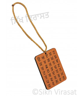 """""""35 AKHAR"""" - Punjabi Alphabets Car Hanging"""
