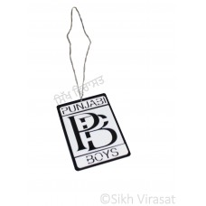 Car Hanging Punjabi Boys Color Black & White Mix Acrylic Car Accessories/Hanging For Car Decor