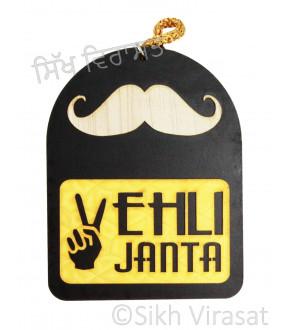 Vehli Janta With Mustache Car Hanging