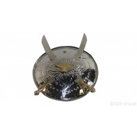 Dhall Steel Or Dhaal Or Khanda Or Baaz Dhal Or Shield Or Sikh Accessories Gatka Sports Small Size 12 inches