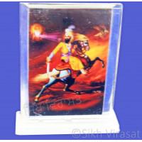Shri Guru Gobind Singh Ji Acrylic Rectangle Model Color Transparent Statue-Home Room Office Car Dashboard Accessories Small Size 3 Inches