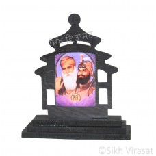 Guru Nanak Dev Ji Guru Gobind Singh Ji Ek Onkar Wood Model Color Brown Statue-Home Room Office Car Dashboard Decor Gift Item Dashboard Accessories Small Size 3 Inches