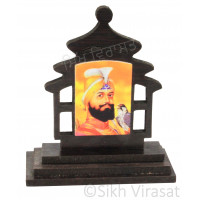 Guru Gobind Singh Ji Wood Model Color Brown Statue-Home Room Office Car Dashboard Accessories Small Size 3 Inches