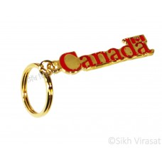 Copper Text Canada Canadian Flag Symbol Key Chain Key Ring Gift Color Golden & Red