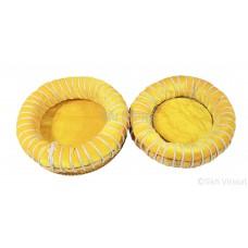 Cushions and Covers for Tabla Set Binu Tabla Gaddi Set Color Yellow