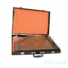 Swarmandal, Surmandal Harp Musicals 31 Strings Tuning Key, Carry Box, 1 Extra Strings Color Brown Matte Finish
