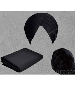 Turban - Full Voil Black (Per Meter)