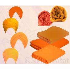 Turban - Full Voil Orange (Per Meter)