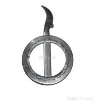 Dumala Or Dumalla Shastar Iron (Punjabi: Sarabloh) Punjabi Sikh Singh Kaur Dumala Shastars Designer Chakar Kirpan Color Sarbloh Size Small